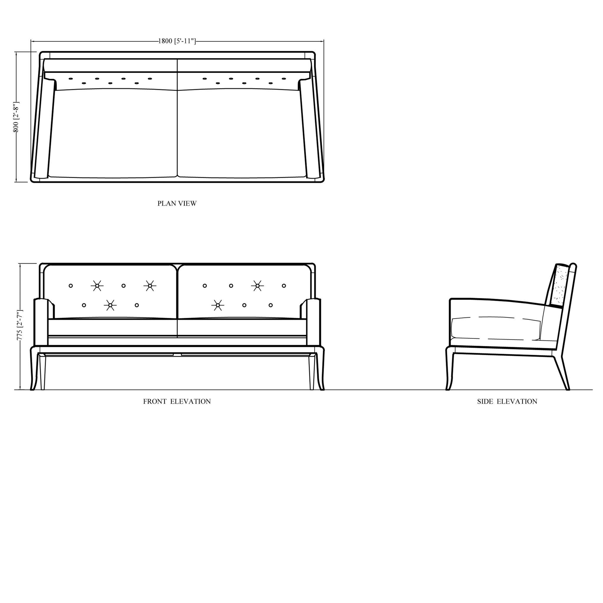 Front Elevation Of Sofa : Front elevation of sofa designs