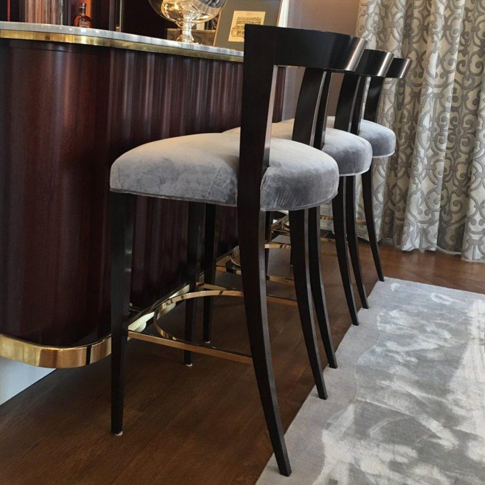 The Henry Holland Bar Stool Gosling Ltd Luxury Bespoke Furniture London