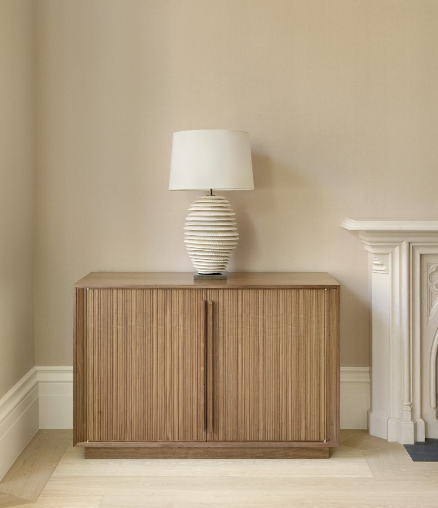 Reeded Walnut Sideboard