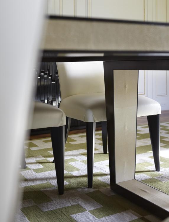 Ebony and Shagreen Dining Table