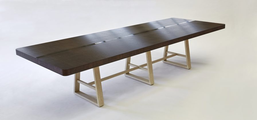 Graphite Grey Stained Oak Dining Table