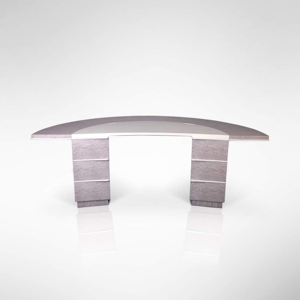 Grey Sycamore Desk Front