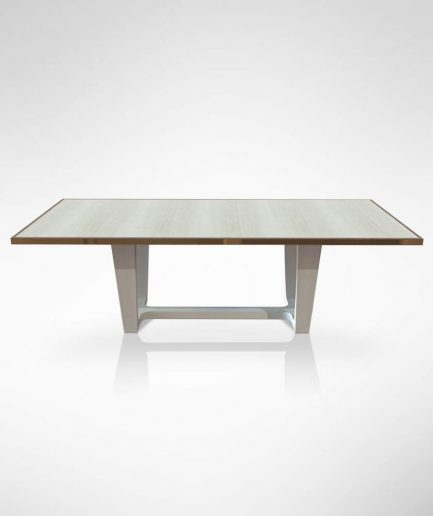 Grey Sycamore Dining Table Front