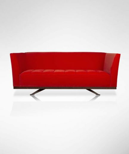John Nash Sofa - Light Red