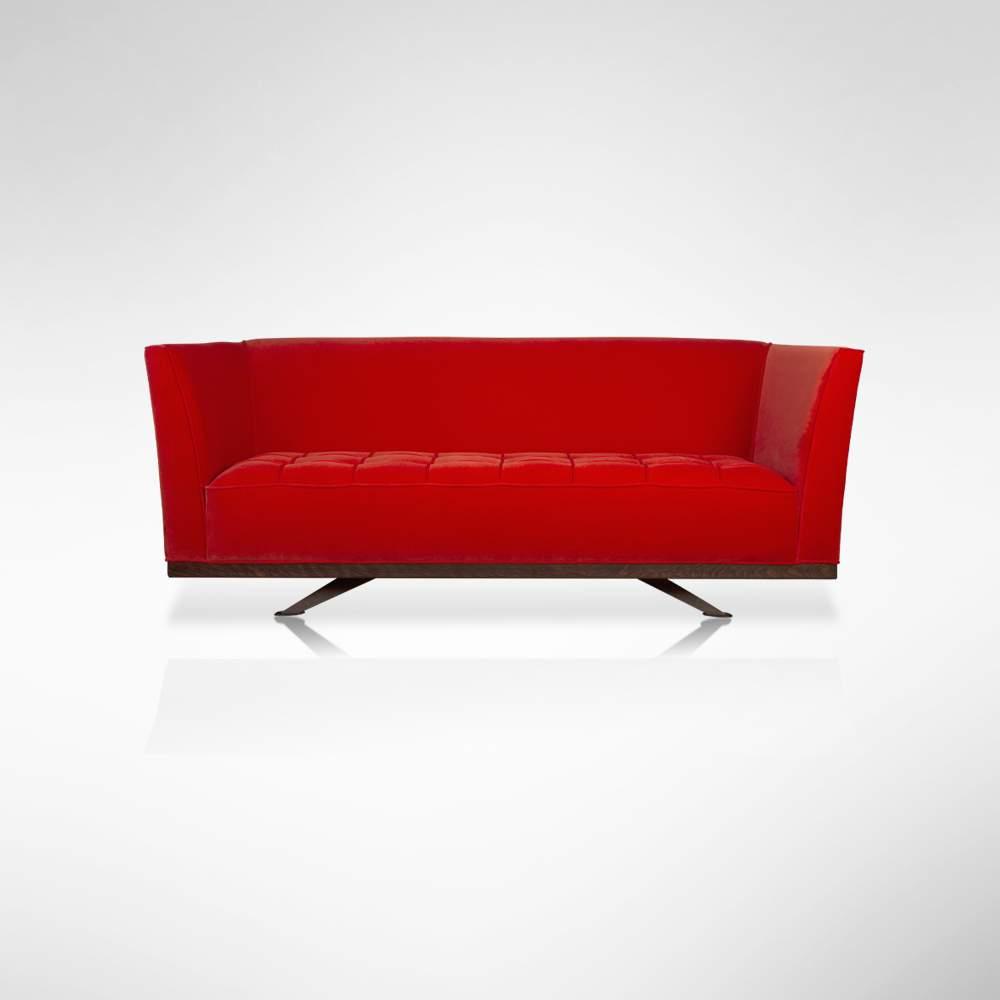 John Nash Sofa - Light Red