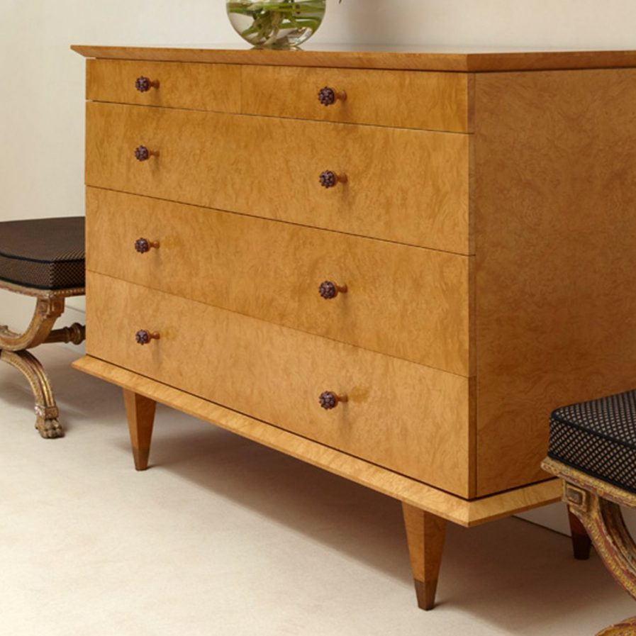 Burr Ash Chest of Drawers