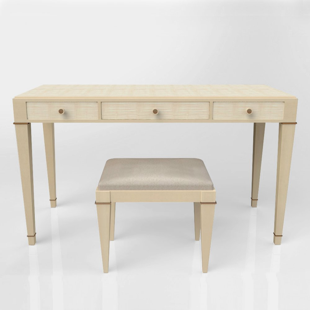 Sycamore Dressing Table & Stool 1
