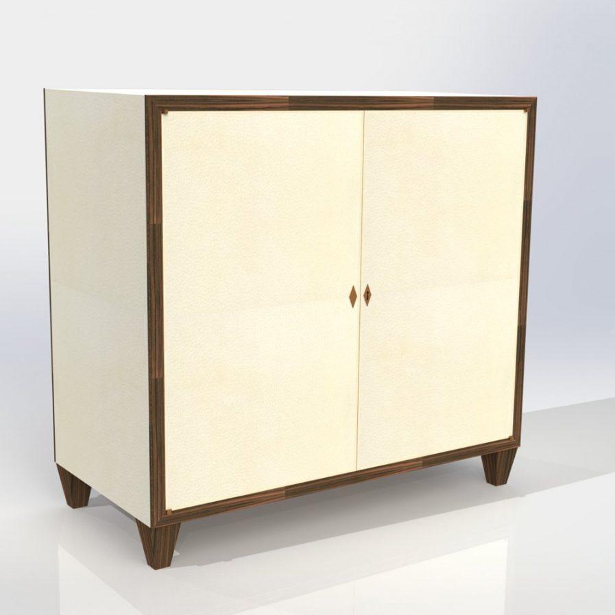 Tall Vellum Cabinet
